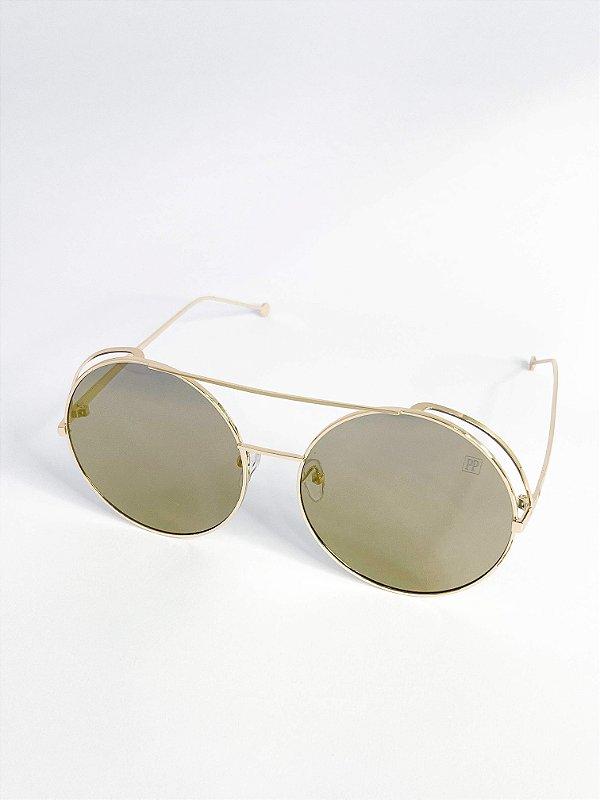 Óculos de sol Perla Prado ref: Francis Gold Espelhado