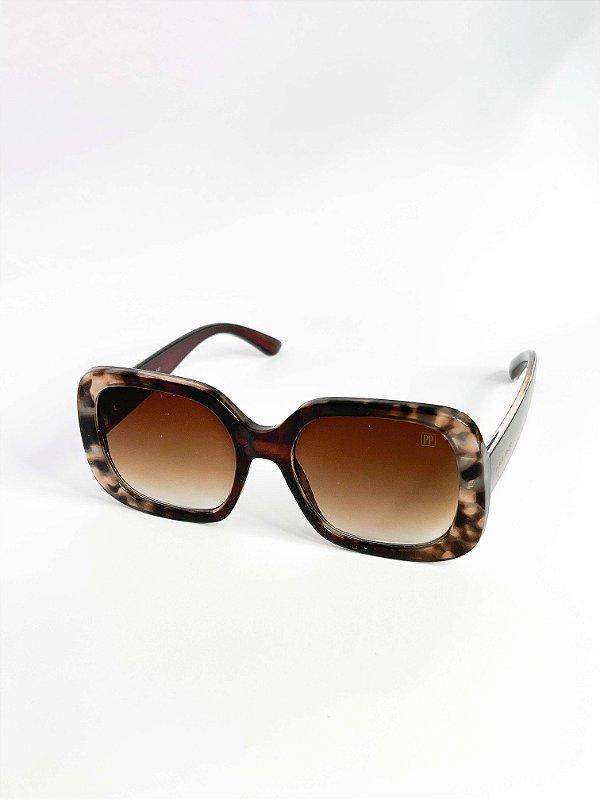 Óculos de sol Perla Prado ref: Sidney Cor: Marrom Turtle