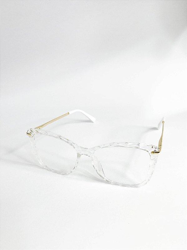 Armação de Grau Perla Prado ref: Veneza Cor: Branca