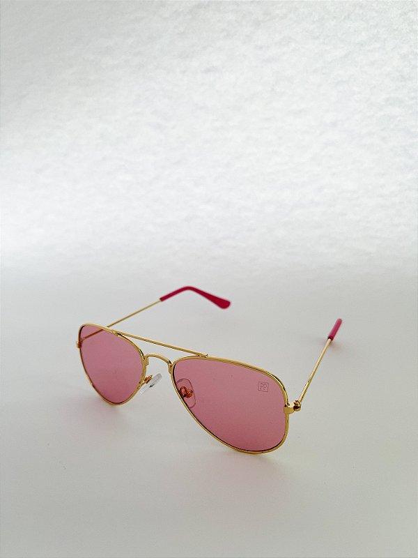 Óculos de Sol Kids Perla Prado - ref: Aviador Pink