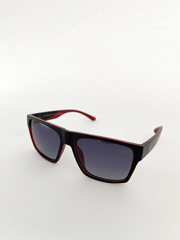 Óculos de Sol Masculino Perla Prado - ref: Ferrari Black Lente Polarizada