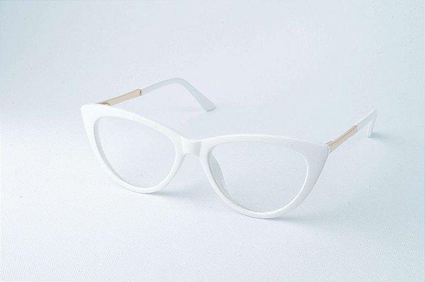 Armação Óculos de Grau Perla Prado - Chile White