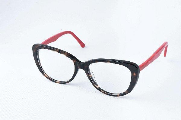 Armação Óculos de Grau Perla Prado - ref: Leona