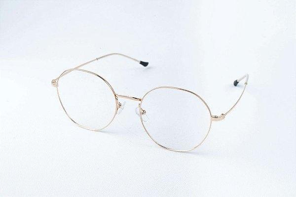 Armação Óculos de Grau Perla Prado - ref: Louise Gold