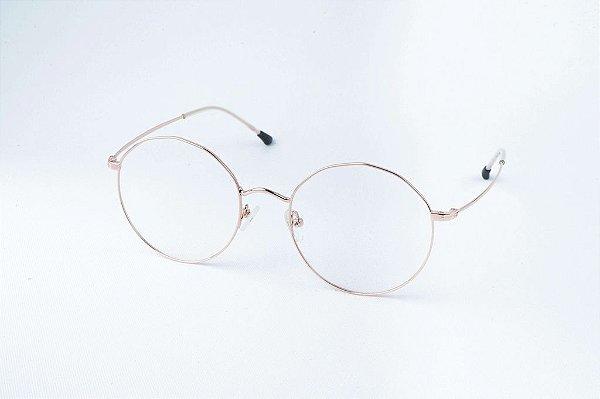 Armação Óculos de Grau Perla Prado - ref: Louise Rose Gold