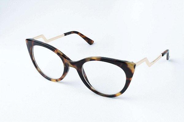Armação Óculos de Grau Perla Prado - ref: Sofia Tiger