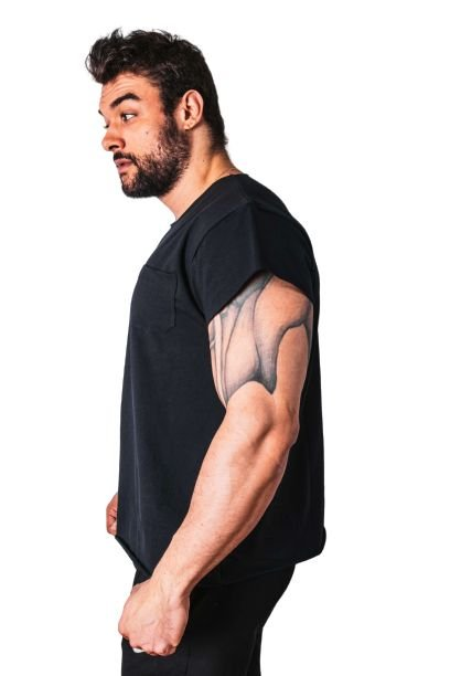 Camiseta Iron Cortada Preta