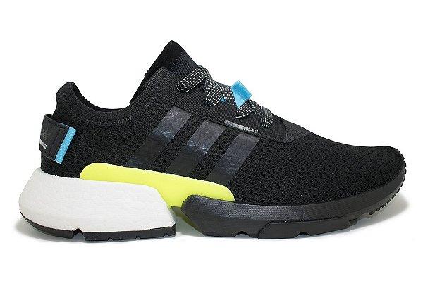 588dcf04c21 Tênis Adidas Pod 3.1 Masculino - Preto e Branco - MegaShoes Artigos ...