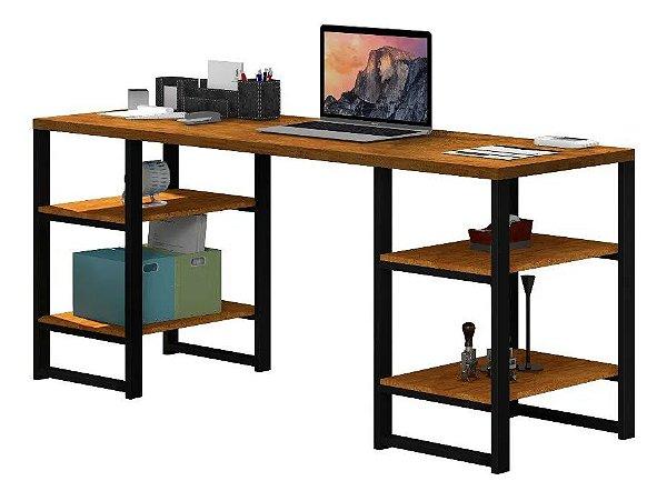 Mesa Escrivaninha Innovare Office 1,70 Com 4 Prateleiras