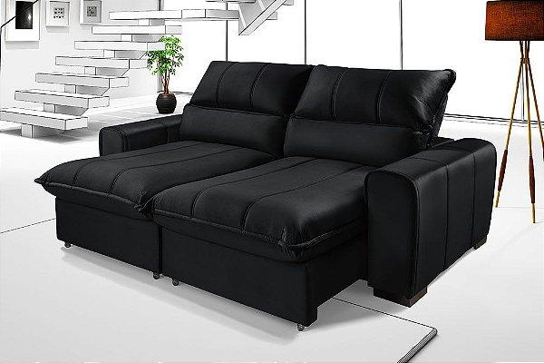 Sofá Retrátil Com Molas Ensacadas Reclinável Premium Dubai 2,05m