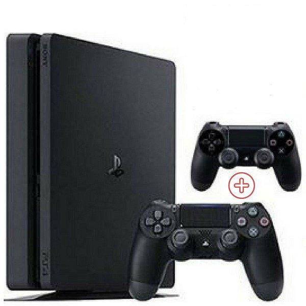Console Playstation 4 500GB Slim Com Dois Controles 2215A Slim