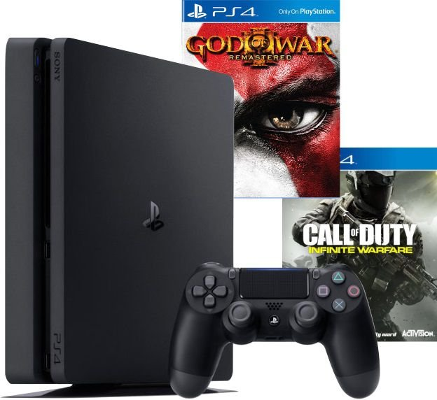 Console PS4 Slim 500GB Slim + God Of War 3 Remasterizado + Call Of Duty