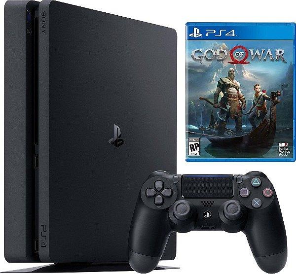 Console Sony PlayStation 4 - 500 GB Preto 2215A Slim + God of War 4