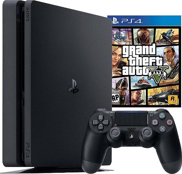 Console PS4 1TB Slim + GTA V