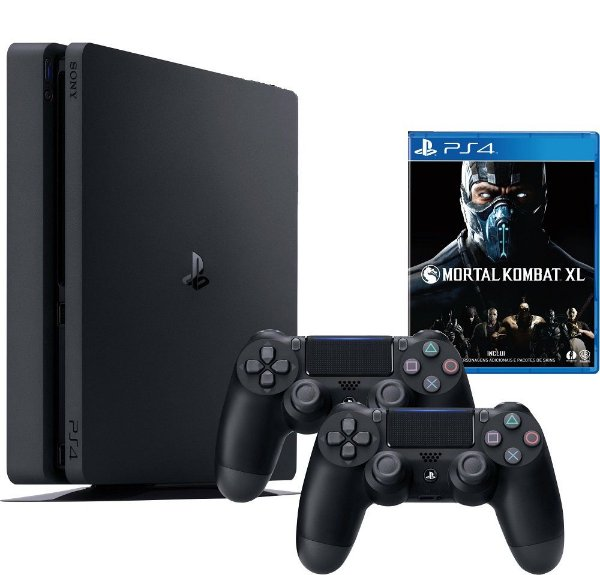 Playstation 4 Slim 500GB Com Dois Controles + Mortal Kombat