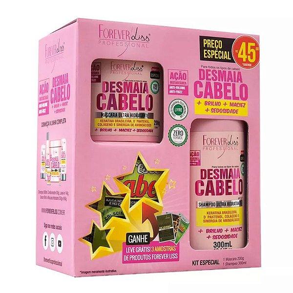 bfe8d8d48 Kit Especial Desmaia Cabelo Forever Liss com Shampoo 300ml e Máscara 200g