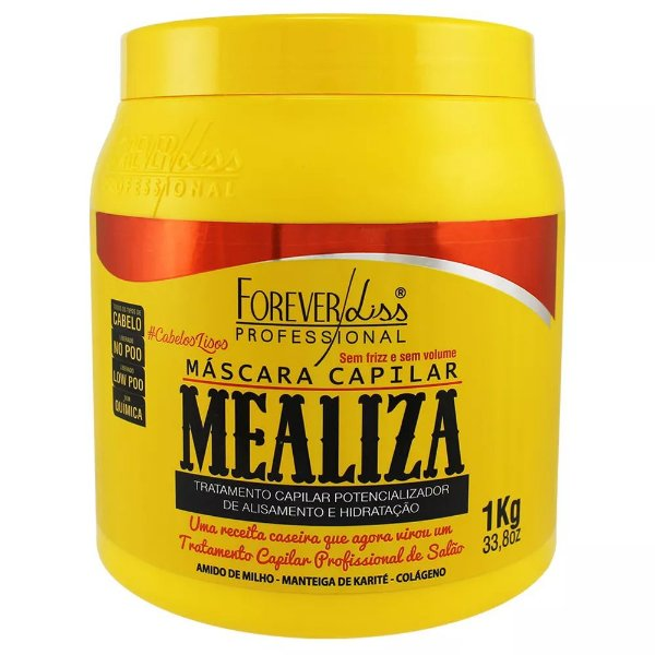 f7bf1be5b Máscara Maizena Capilar MeAliza Forever Liss 1kg - Onifur Shop ...