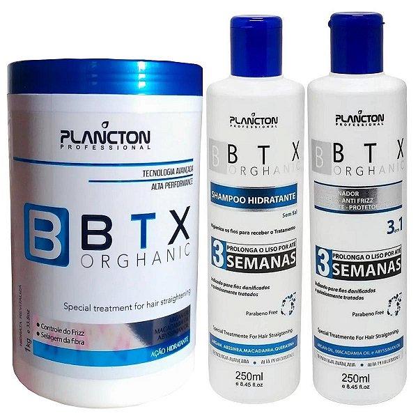 Kit Plancton Shampoo, Condicionador E Botox Orghanic 1Kg