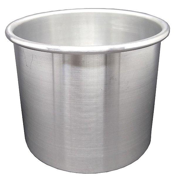 Forma Para Bolo Redonda Alta Fundo Fixo 13x10cm Alumínio Doupan