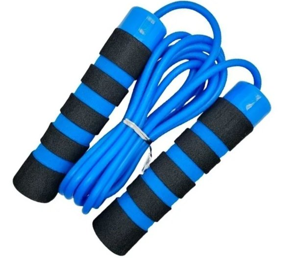 Corda de Pular Com Rolamento Treino Funcional Academia Exercicios Jump Rope Premium Azul