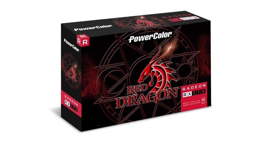 GPU RX 570 4GB RED DRAGON POWER COLOR AXRX 570 4GBD5-3DHD/OC