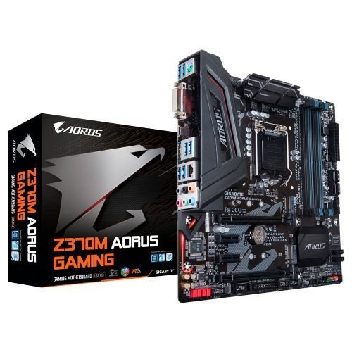 M1151 Placa Mãe LGA1151 Gigabyte Z370M AORUS GAMING DDR4 ( 4x DDR4 / 1x PCIe 2.0 x16 / 1x PCIe 2.0 x4 / 2x PCIe 2.0 x1 / 6x USB 3.0 / 1x HDMI / 1x DVI / 1x PS2 )