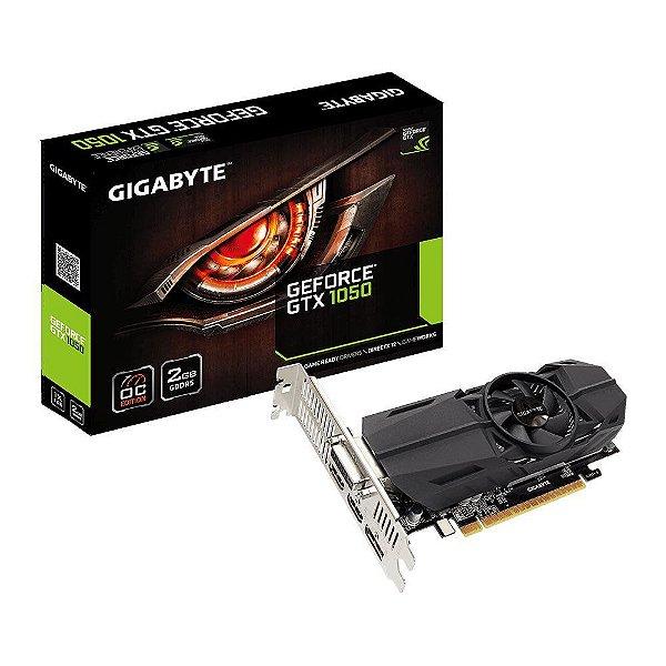 Placa de Vídeo VGA NVIDIA GIGABYTE GEFORCE GTX 1050 2GB OC Low Profile GDDR5 PCIE GV-N1050OC-2GL