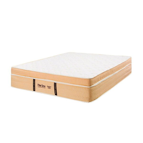 Colchão de Casal Prime Sense Molas Ensacadas - 128x188x35 - Comfort Prime - Creme