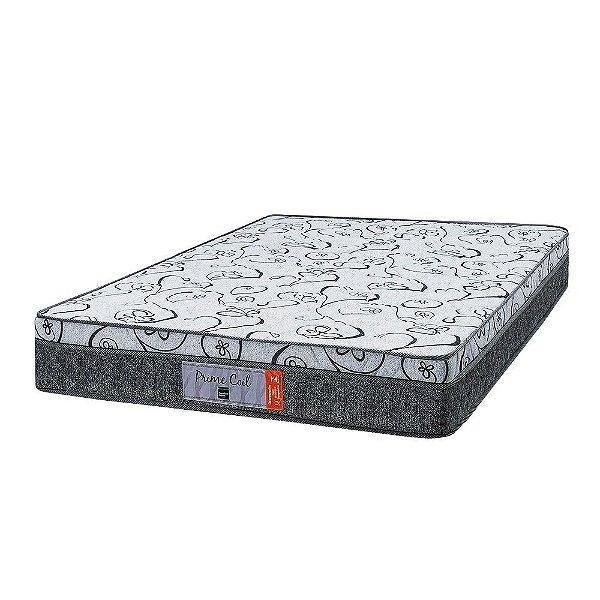 Colchão Solteirão Prime Coil Molas Superlastic - 110x188x24 - Comfort Prime - Cinza