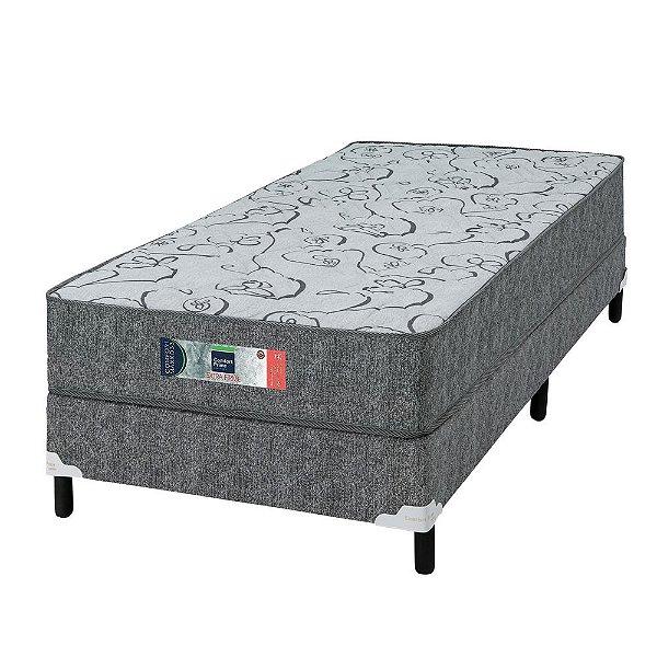 Conjunto Solteiro D33 Comfort Maxx - Extra Firme - 88x188x55 - Comfort Prime - Cinza