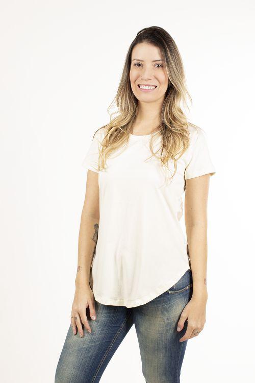 T-shirt  Longline Feminina