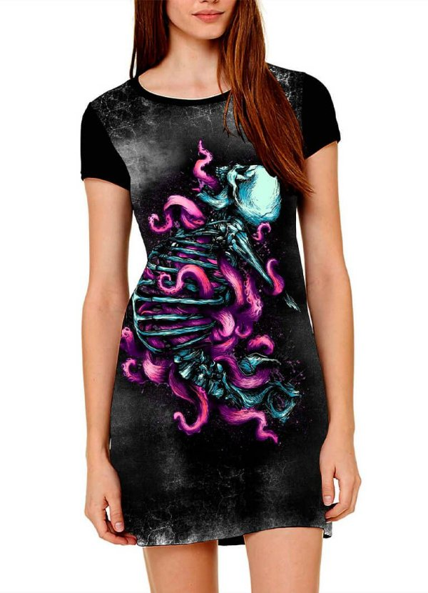 Vestido Printfull tipo camiseta t-shirt dress The Host