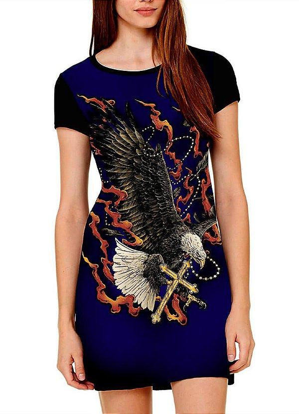 Vestido Printfull tipo camiseta t-shirt dress Eagle Cross