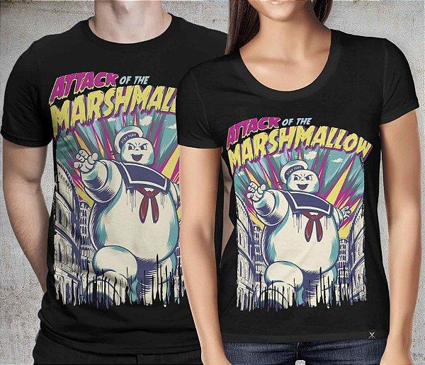 Camiseta Black Printfull Attack of the Marshmallow