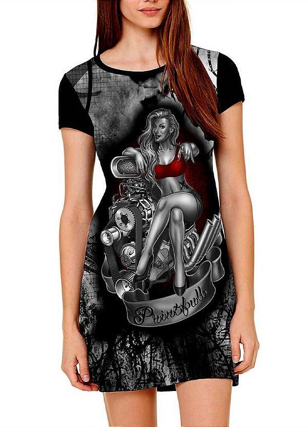Vestido Printfull tipo camiseta t-shirt dress Sexy Engine