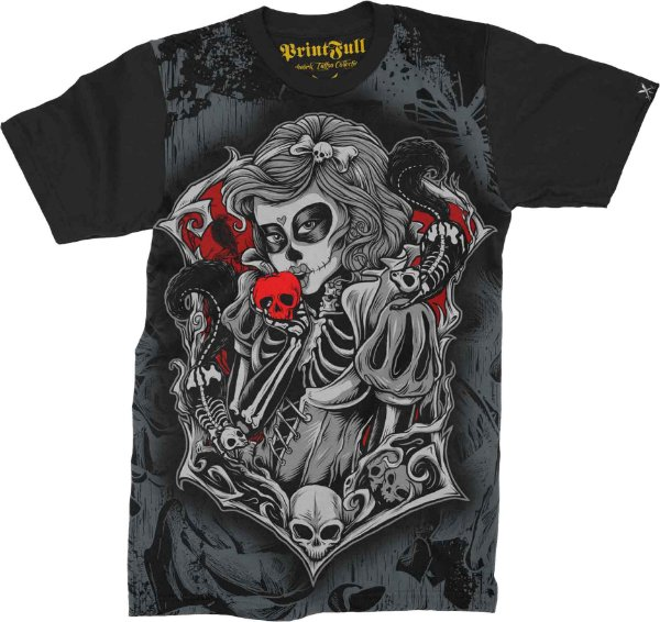 Camiseta Printfull Death Apple