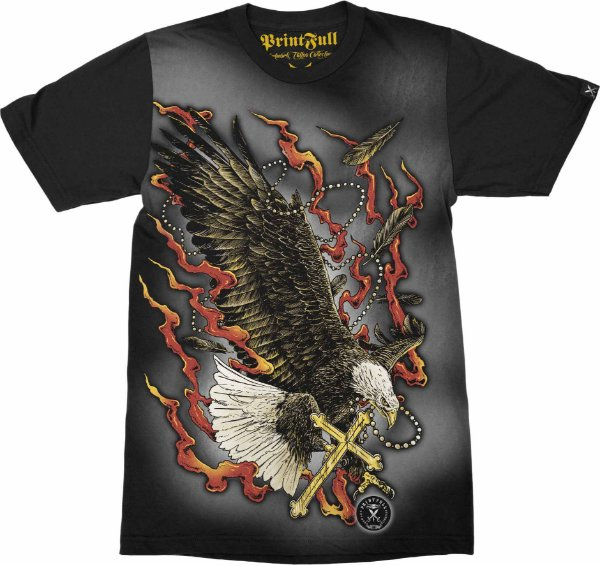 Camiseta Printfull Eagle Cross