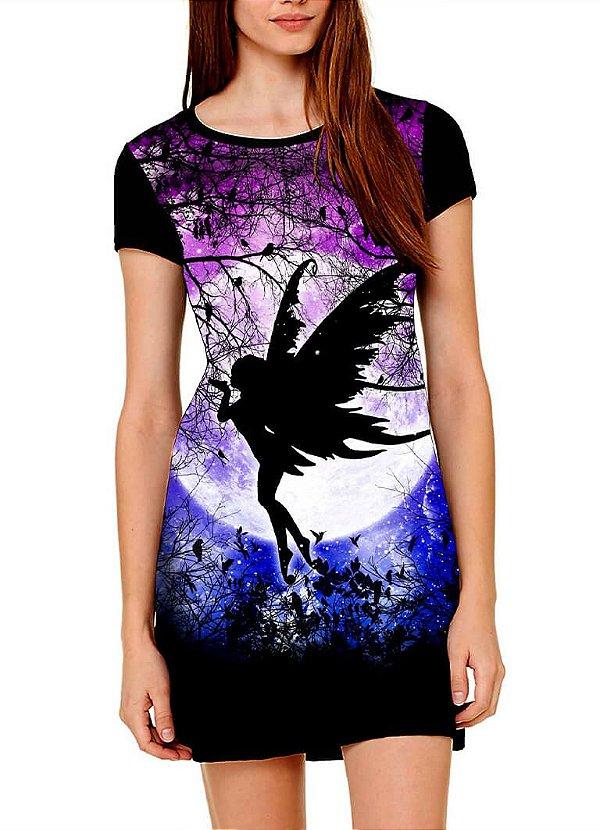 Vestido Printfull tipo camiseta t-shirt dress Fairy Ursula