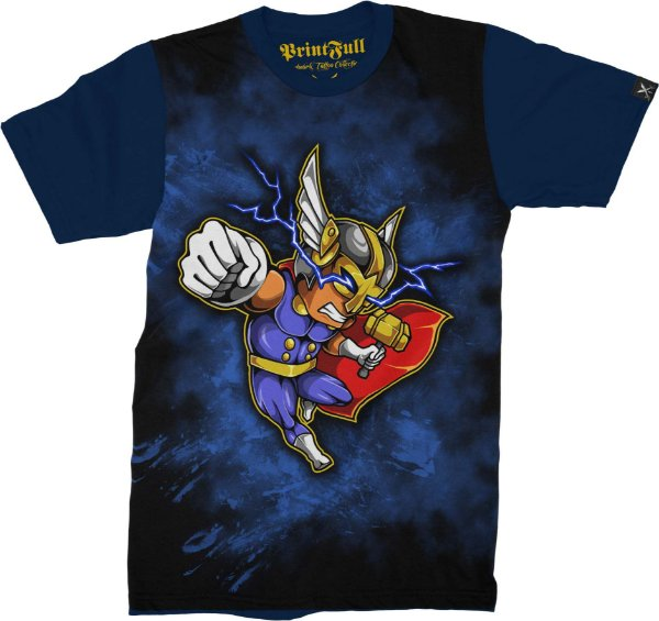Camiseta Printfull Lightning Gods
