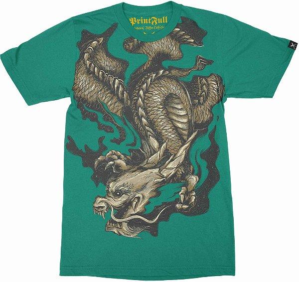 Camiseta Printfull Golden Dragon