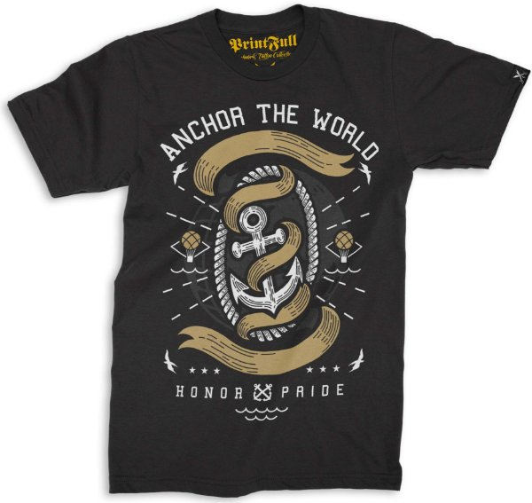 Camiseta Printfull Anchor The World