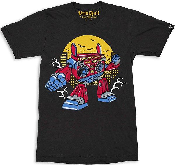 Camiseta Printfull Boombox Robot