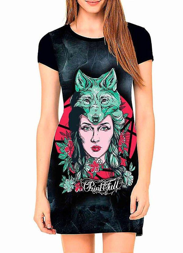 Vestido T-shirt Dress Printfull Leave her Wild