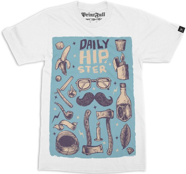 Camiseta Printfull Daily Hipster