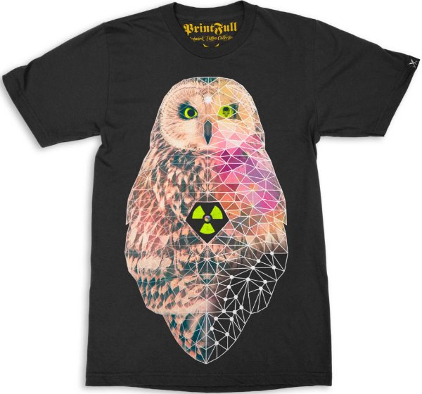 Camiseta Printfull Poly Owlism
