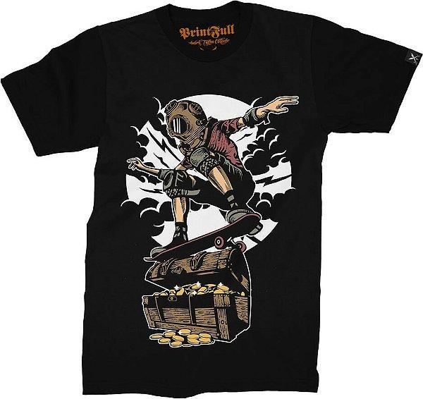 Camiseta Printfull Diver Skater Treasure