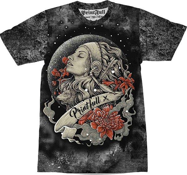 9ed0275806 Camiseta Printfull Moon Girl - Camisetas Printfull  Artwork Tattoo ...