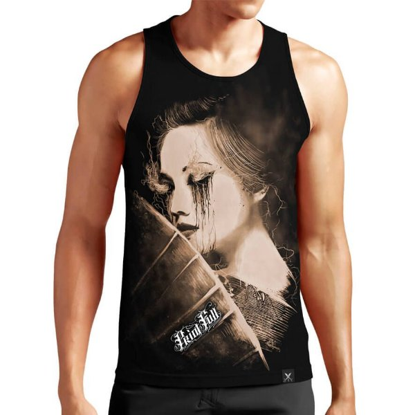 131ad1cd2b Regata Masculina Printfull Otherside of Geisha - Camisetas Printfull ...