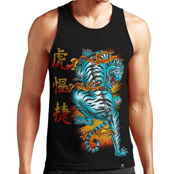 Regata Masculina Printfull Japan Tiger
