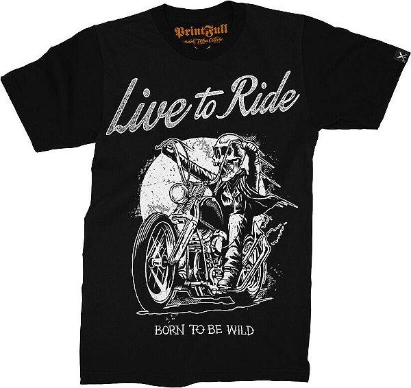 Camiseta Printfull Live to Ride